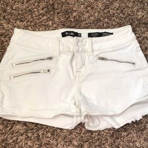 White Denim Miss Me Shorts
